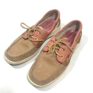 SPERRY TOP SIDER Leather Loafer Boat Shoes Pink